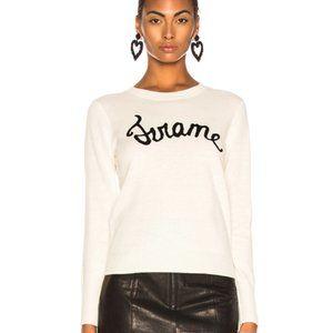 Frame Denim Cursive Logo Wool Blend Sweater